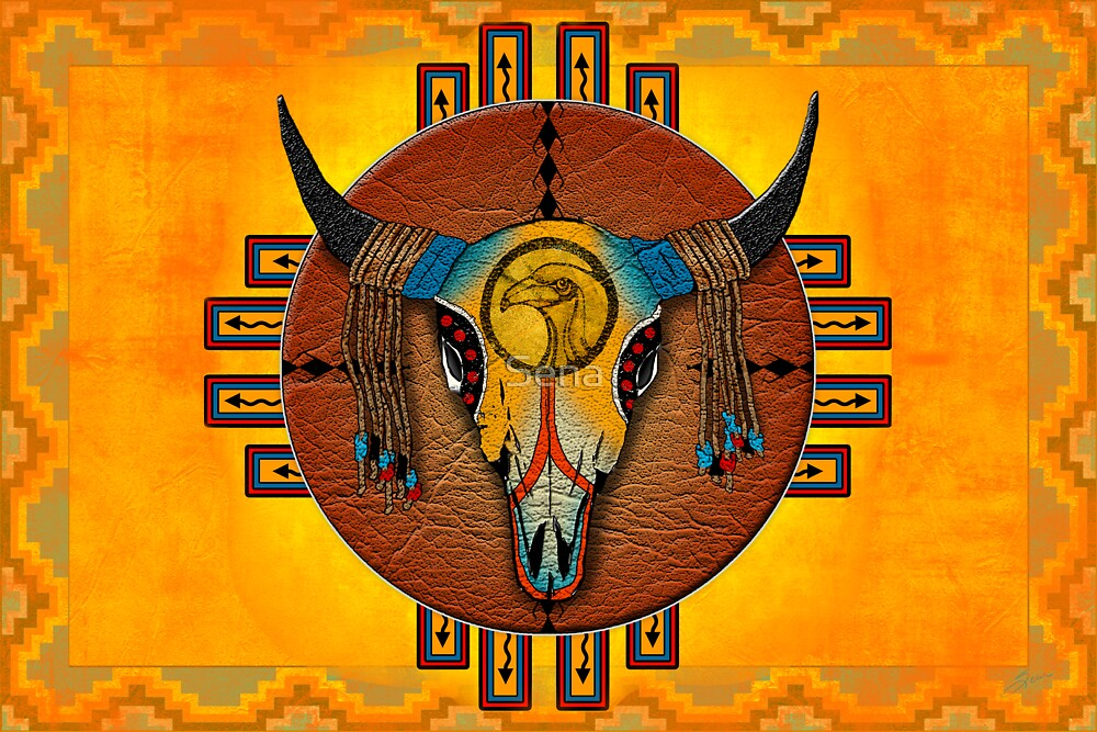 Spirit of the Buffalo Sun (Horizontal) by Sena