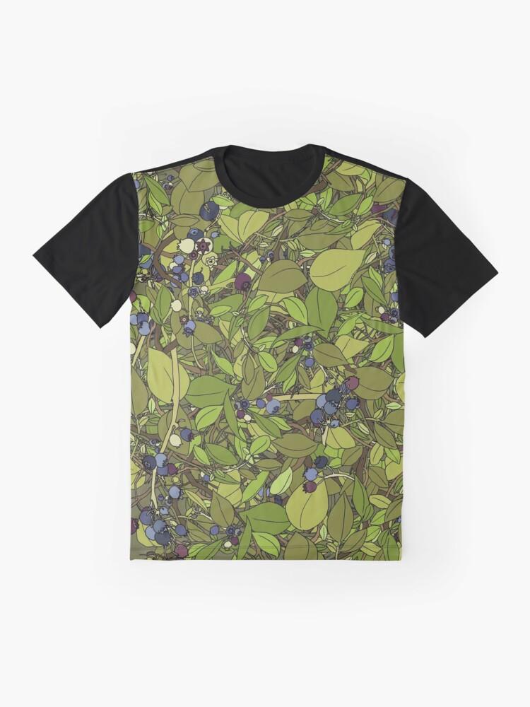 Alternate view of Blueberry Bush Graphic T-Shirt