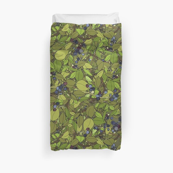 Blueberry Bush Duvet Cover