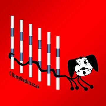 Agility dog - weave by BonnyGraphics