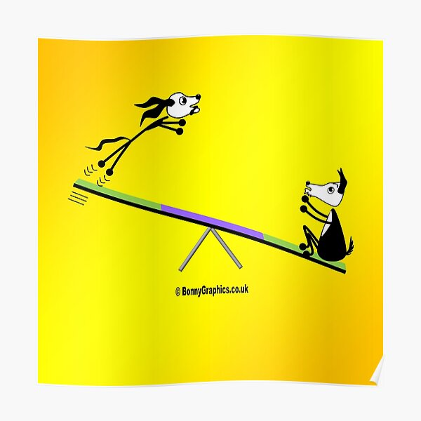 Agility dog - seesaw Poster