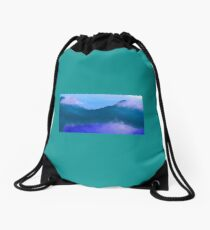 Reflective Clouds Scenery Drawstring Bag