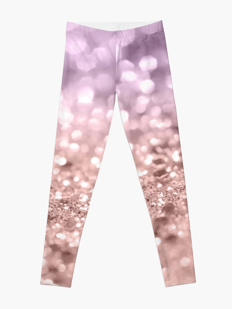 e62b1687d Rose Gold Blush Purple MERMAID Girls Glitter #1 #shiny #decor #art Leggings