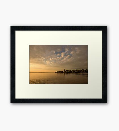 Expansive Harbour Framed Print