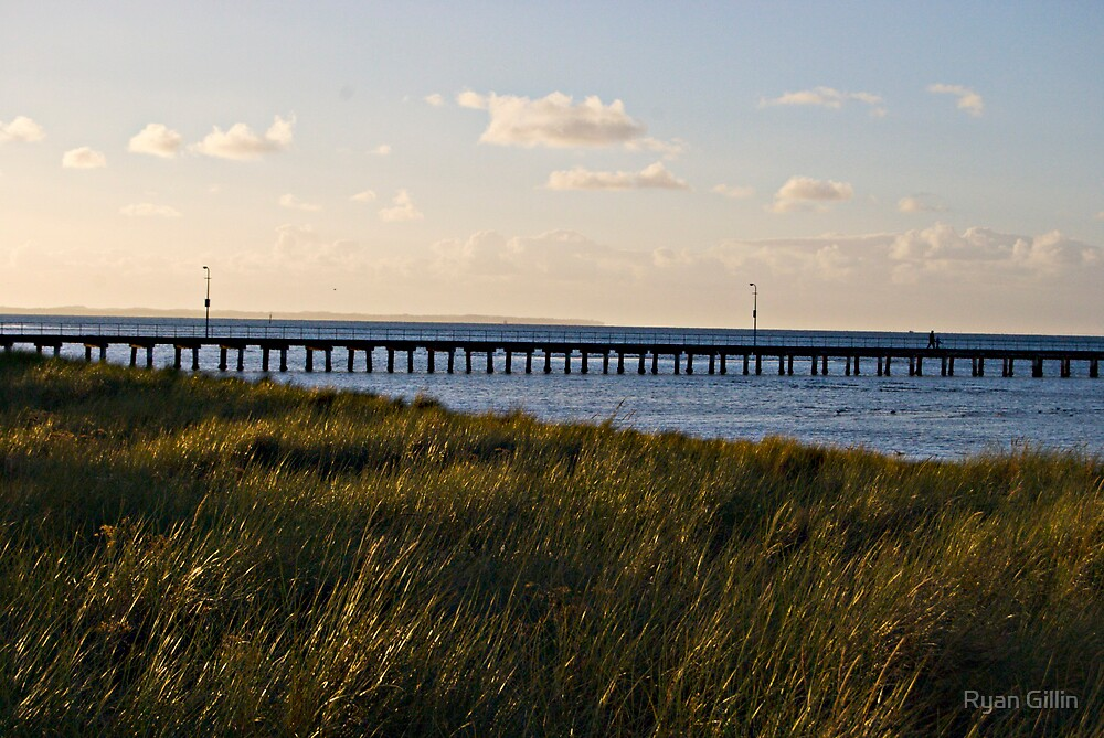 A long walk and a longer pier by Ryan Gillin