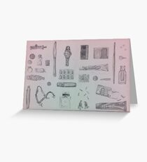 Everyday Objects Greeting Card
