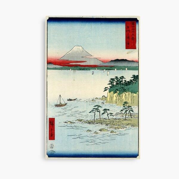 Sea At Miura In Soshu Province - Hiroshige Ando - 1858 - woodcut Canvas Print