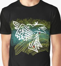 Reconstructed Crow Graphic T-Shirt