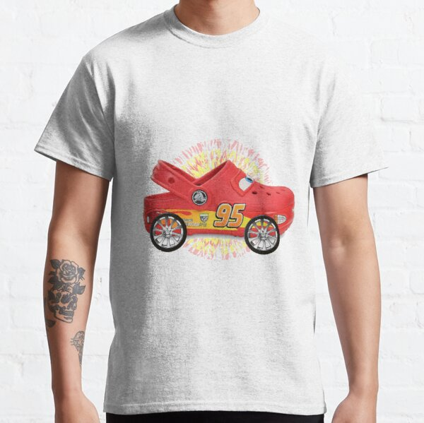 Lightning McQueen except its actually just a pair of crocs with wheels attached Classic T-Shirt