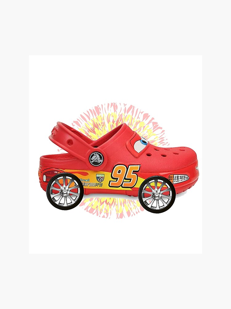 image regarding Lightning Mcqueen Printable Decals titled Lightning McQueen unless of course its virtually simply a few of crocs with wheels connected Photographic Print