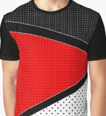 Red, Black, and White Graphic T-Shirt