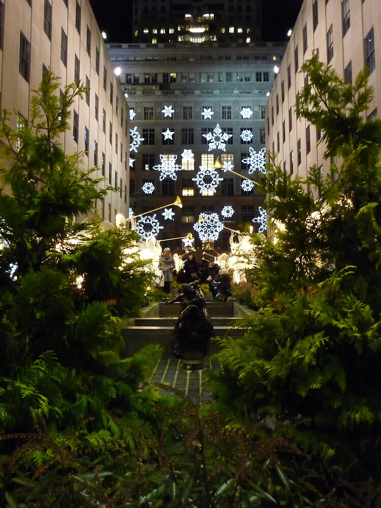 Christmas at Rockefeller Plaza by Adria Bryant