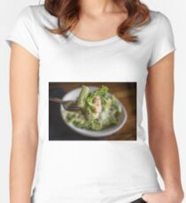 Parmesan Caesar Salad Women's Fitted Scoop T-Shirt