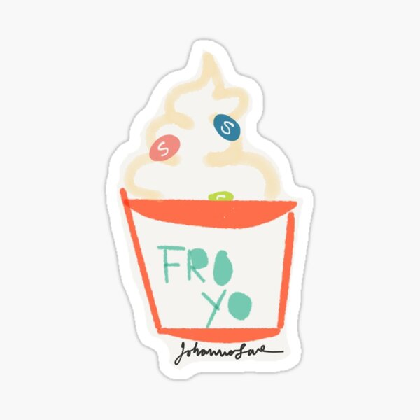 Fro-Yo -- Sticker Option Sticker