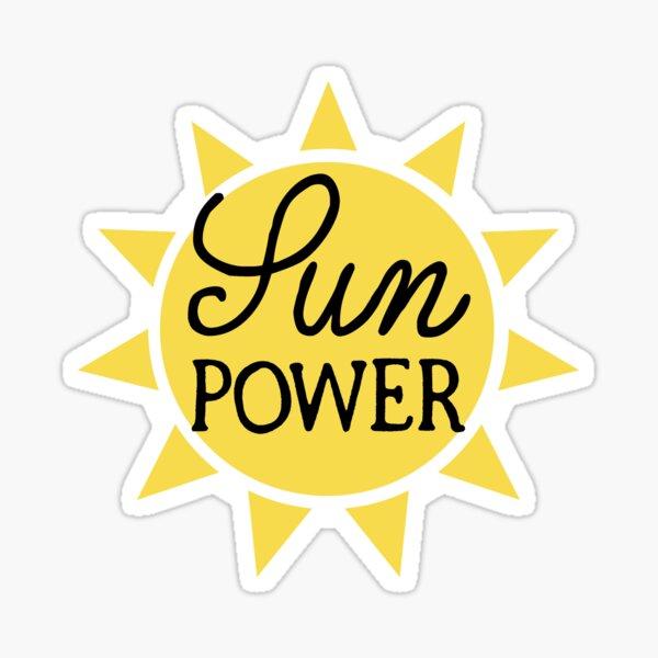 sun power, solar, go green, sustainable power, clean energy Sticker