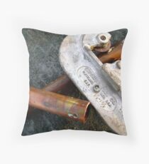 Pipe and Cutter Throw Pillow
