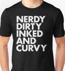 Camiseta ajustada TINTA SUCIA NERDY Y CURVY