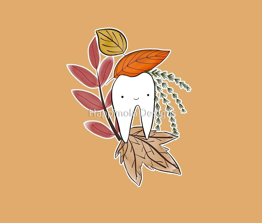 Happy Autumn Tooth by Happimola | Tamara Arauz