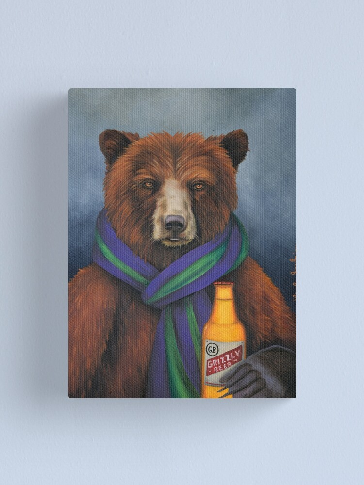 Alternate view of Grizzly Beer Canvas Print