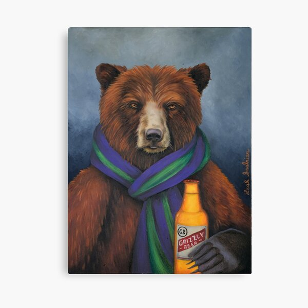 Grizzly Beer Canvas Print