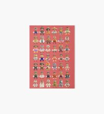 Super Mario Odyssey All Outfits Xtra Large for Individual Stickers Art Board