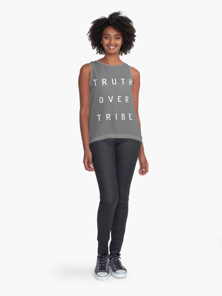 Alternate view of Truth Over Tribe Sleeveless Top