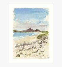 Jimmys Beach, Hawks Nest Art Print