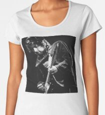Bob Dylan Black and White Print Women's Premium T-Shirt