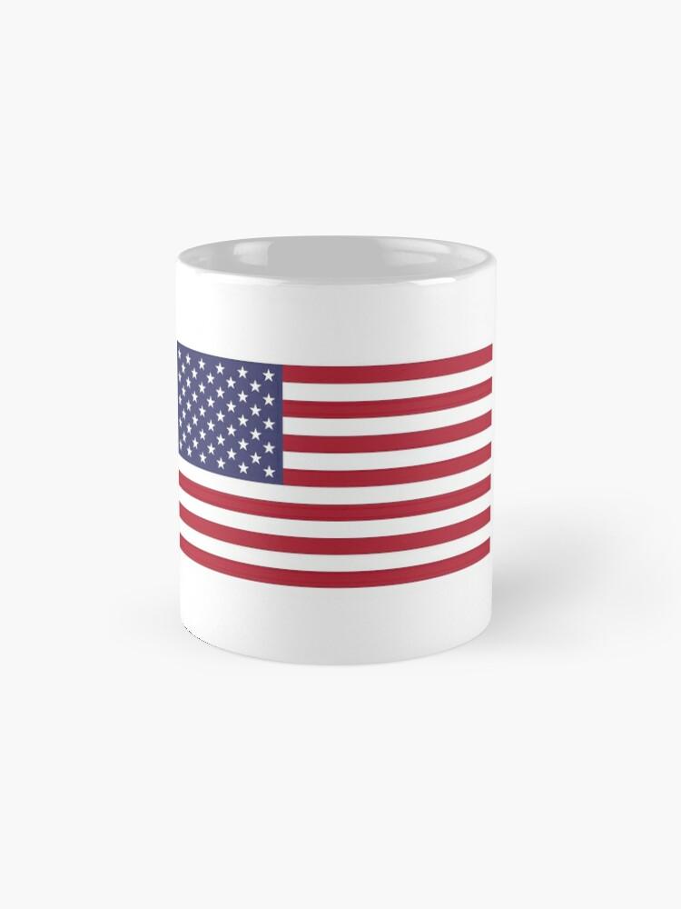 Vista alternativa de Taza estándar Bandera estadounidense