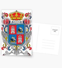 Coat of arms of Campeche (State), Mexico Postcards