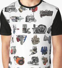 Old steam locomotive - старинный паровоз - steampunk Graphic T-Shirt