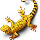 Yellow Gecko bringing Success by Ldarro