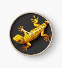 Yellow Gecko bringing Success Clock