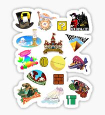 Super Mario Odyssey Location Stickers XL for Individual Sticker