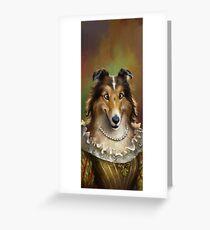 Tarjeta de felicitación Collie, The Court Favorite Lady Dog