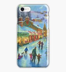 CHRISTMAS ON PEPPERMINT LANE PAINTING iPhone Case/Skin
