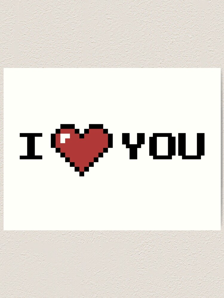 Personalized Pixel Art Heart Valentines Day Decoration