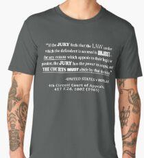 Jury Nullificaton Case Law Quote White Lettering Men's Premium T-Shirt
