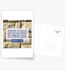 Treat People in the Same Way - Verse Image from Matthew 7:12 Postcards