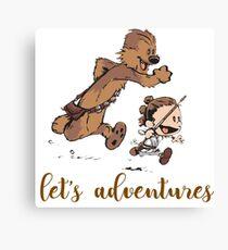 Let's Adventures Calv Canvas Print