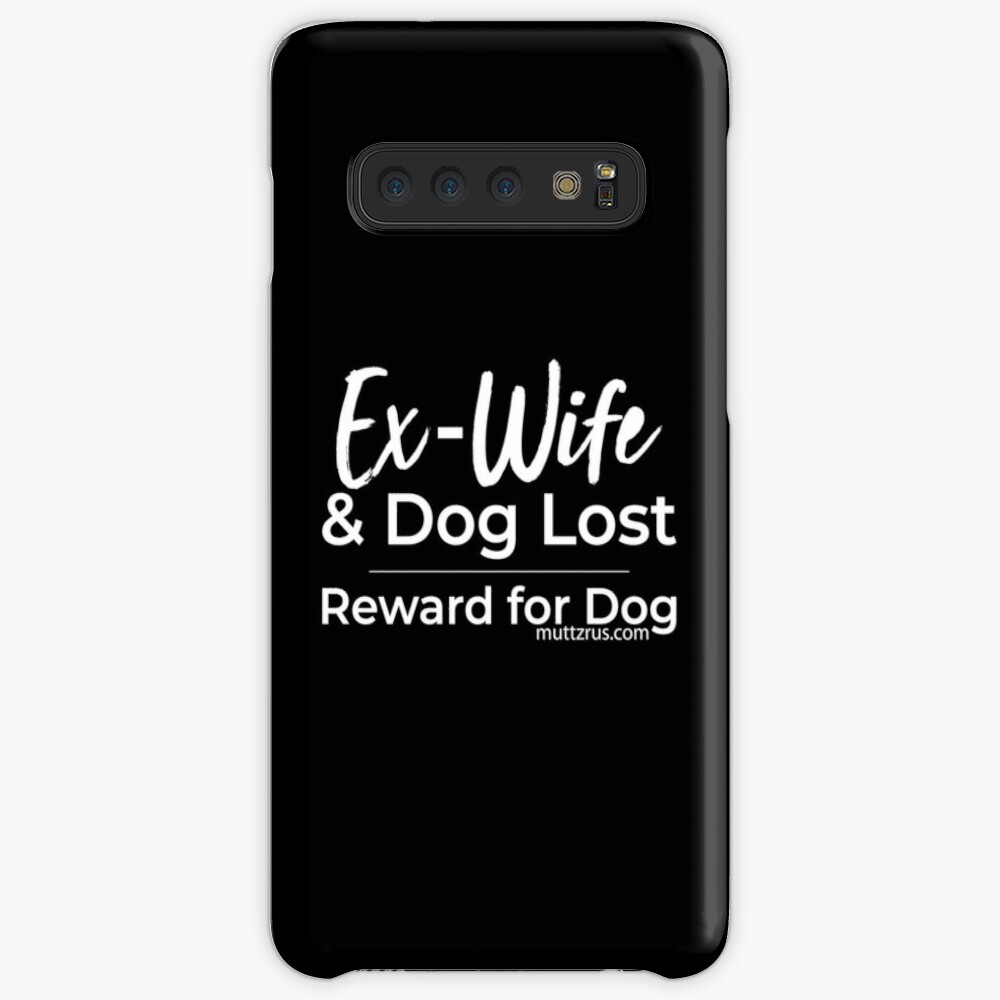 Ex-Wife Lost (White Text) Case & Skin for Samsung Galaxy