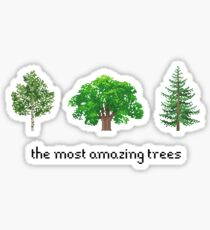 Die erstaunlichsten Bäume Pixel Sticker