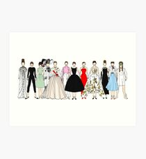 Audrey Group Fashion Art Print