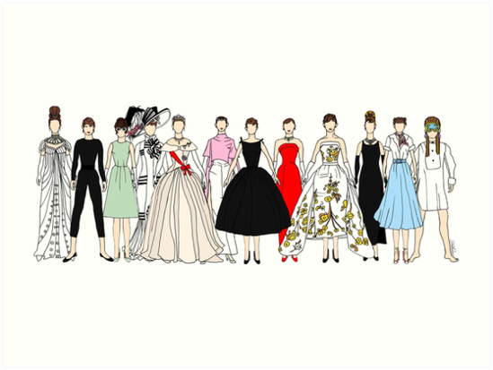 Audrey Group Fashion by Notsniw Art