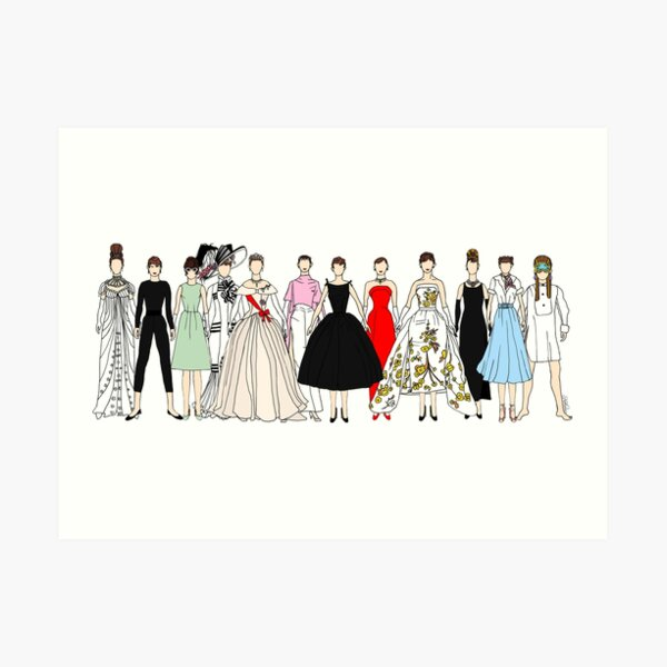 Audrey Group Fashion Art Print