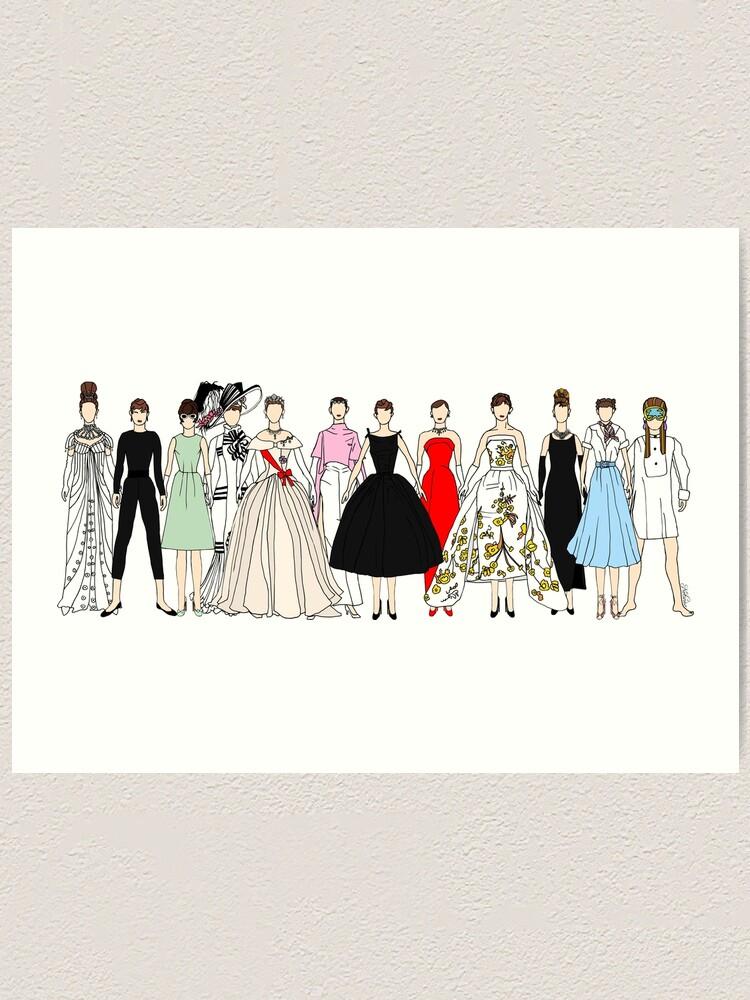 Alternate view of Audrey Group Fashion Art Print