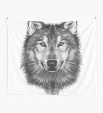 Wolf Head Wall Tapestry