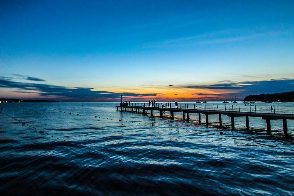 Sunset over the Slovenian Coastline by pixog