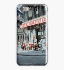 Vintage Paris Street Life 1956 Petit Suisse iPhone Case/Skin