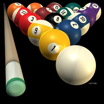 Pool Team Billiard Tshirts and Gifts for 8-Ball by studioN51